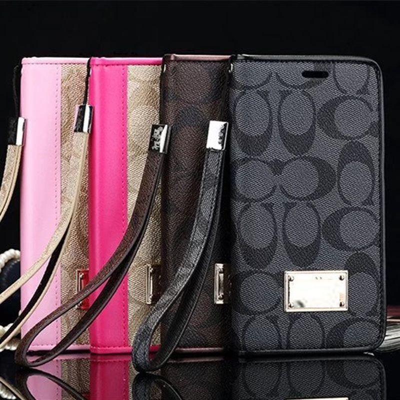 Coach Leather Case for iPhone  X XS XS MAX XR 6 6S 7 8 Plus Samsung S7edge S8 S9 plus note 5 8 9